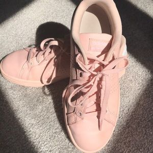 Adidas pink cloud foam sneakers size women's 8